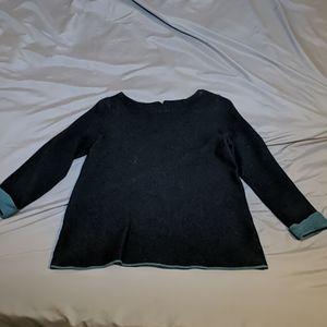 Grey Sweater Blouse